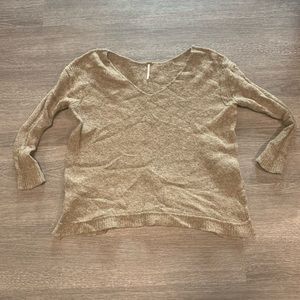 [Free People] Brown V Neck Sweater